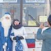 Дед Мороз решил покататься натомских троллейбусах