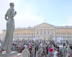 Томичи отметили первый юбилей возвращения Крыма домой, вРоссию