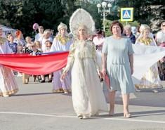 В одном из ведущих районов области прошла массовая демонстрация, посвященная его 80-летию