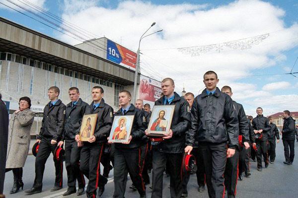 Воспитанники Томского кадетского корпуса