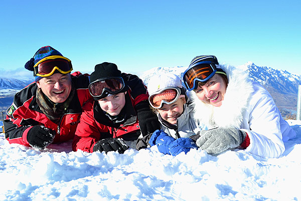 Семья Вадима Андросова на отдыхе в горах Новой Зеландии