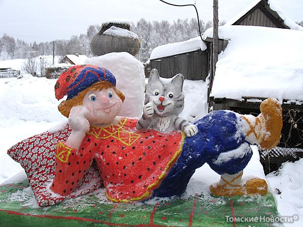 Сказки из снега своими руками фото