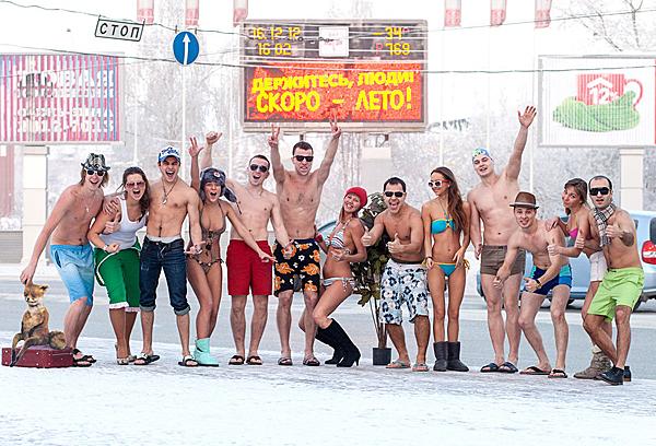 Этот снимок был сделан в Томске в декабре 2012 года. На улице –34 С. Фото разлетелось по Сети за считанные часы…