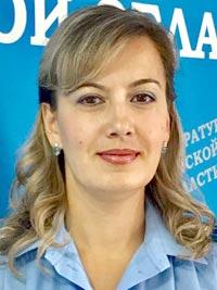 Лариса Клименко, помощник прокурора Советского района, младший советник юстиции