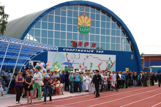 """После реконструкции стадион """"Заря"""" стал полноценным спортивным комплексом"""