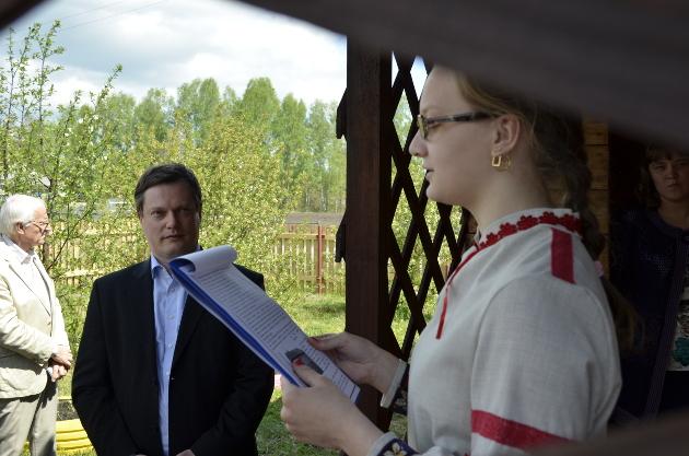 10-классница Эльвира Мальцева прочла гостям реферат о знаменитом березовском учителе Германе Рейле