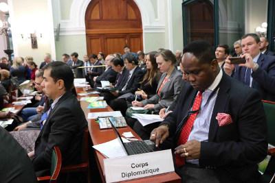 В презентации Томской области приняли участие представители дипломатических миссий 11 стран мира иболее чем 700 предприятий России изарубежья.